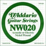 D'Addario NW020 Single XL Nickel Wound 020
