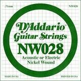 D'Addario NW028 Single XL Nickel Wound 028
