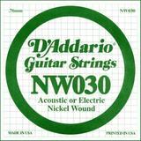 D'Addario NW030 Single XL Nickel Wound 030