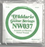 D'Addario NW037 Single XL Nickel Wound 037