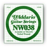 D'Addario NW038 Single XL Nickel Wound 038