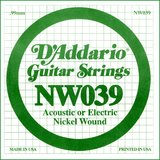D'Addario NW039 Single XL Nickel Wound 039