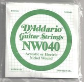 D'Addario NW040 Single XL Nickel Wound 040