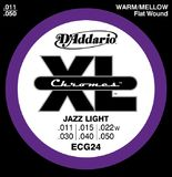 D'Addario XL Chromes Flat Wound - ECG24 11-50 Jazz Light