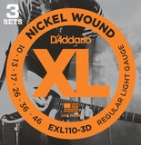 D'Addario XL Nickel Round Wound - EXL110-3D