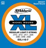 D'Addario XL Nickel Round Wound - EXL110-7 10-59 Regular Light 7-String