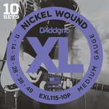 D'Addario XL Nickel Round Wound - EXL115-10P