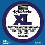D'Addario XL Nickel Round Wound - EXL115 11-49 Blues/Jazz Rock