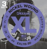 D'Addario XL Nickel Round Wound - EXL115-3D