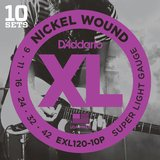 D'Addario XL Nickel Round Wound - EXL120-10P