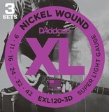 D'Addario XL Nickel Round Wound - EXL120-3D