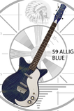 Danelectro 59 Alligator - Blue