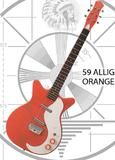 Danelectro 59 Alligator - Orange