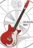 Danelectro 59 Alligator - Red