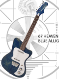 Danelectro 67 Heaven - Blue Alligator