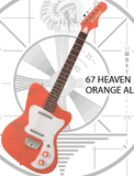 Danelectro 67 Heaven - Orange Alligator