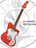 Danelectro 67 Heaven - Red Alligator