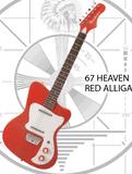 Danelectro 67 Heaven - Red Alligator