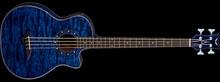 Dean Guitars Exotica Quilt Ash Bass - Trans Blue