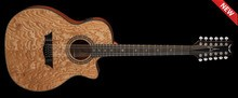 Dean Guitars Exotica Ultra Quilt Ash A/E 12 String - Gloss Natural
