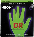 Dr Strings K3 Neon Hi-Def Green Bass NGB5-45 5-String Medium 45-125