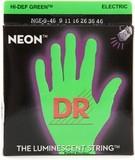 Dr Strings K3 Neon Hi-Def Green Electric NGE-9/46 Lite & Heavy 9-46