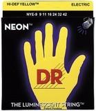 Dr Strings K3 Neon Hi-Def Yellow Electric NYE-9 Lite 9-42