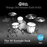 Drumdrops Vintage 1963 Premier Outfits 54 Drum Kit v3