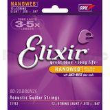 Elixir Strings Nanoweb Acoustic 11152 10-47 10-27 12-String Light