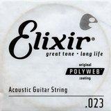 Elixir Strings Polyweb Acoustic Single 13123 .023