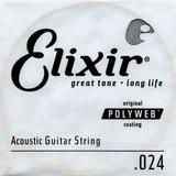 Elixir Strings Polyweb Acoustic Single 13124 .024