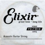 Elixir Strings Polyweb Coating 80/20 Bronze Acoustic Single