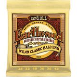 Ernie Ball EarthWood 80/20 Bronze Nylon Classic Ball-End