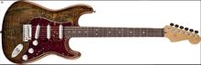 Fender Spalted Maple Top Artisan Stratocaster Rosewood - Buckeye
