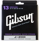 Gibson J-200 Phosphor Bronze Acoustic Guitar Mediums 13-56