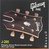 Gibson J-200 Phosphor Bronze Acoustic Guitar Ultra Lights 11-52