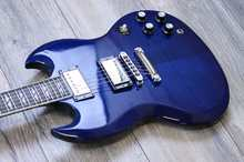 Gibson SG Supreme 2002 Midnight Blue Flame Top