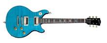 Gibson Tak Matsumoto DC Standard Flame Top - Standard Aqua Blue