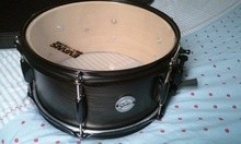 Gretsch FULL RANGE 12X06 ASH SATIN EBONY