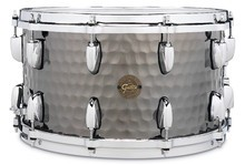 Gretsch Full Range Hammered Black Steel Snare 8x14