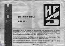 HPS G+ Stereo Digital Tube Preamp