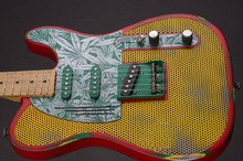 James Trussart Three Tone Ganja Holey Steelcaster