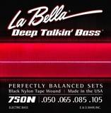 La Bella 750N Black Nylon Tape Wound 50-105