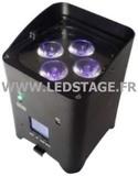 Ledstage Projecteur autonome RGBWA+UV LS418HF