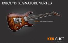 LTD KS-7 QM/ET - Dark Brown Sunburst