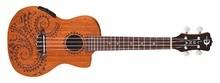Luna Guitars Uke Tattoo Concert Mahogany w/ Preamp