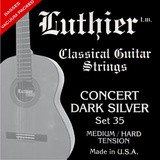 Luthier Strings Set 35 Concert Dark Silver Classical Guitar Medium/Hard Tension