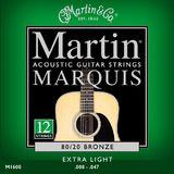 Martin & Co Marquis 80/20 Bronze M1600 Extra Light 12-String 10-47 10-27
