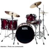 Natal Drums Birch Traditional Custom - Gloss Burgundy