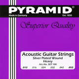 Pyramid Strings Silver Plated Wound Heavy
